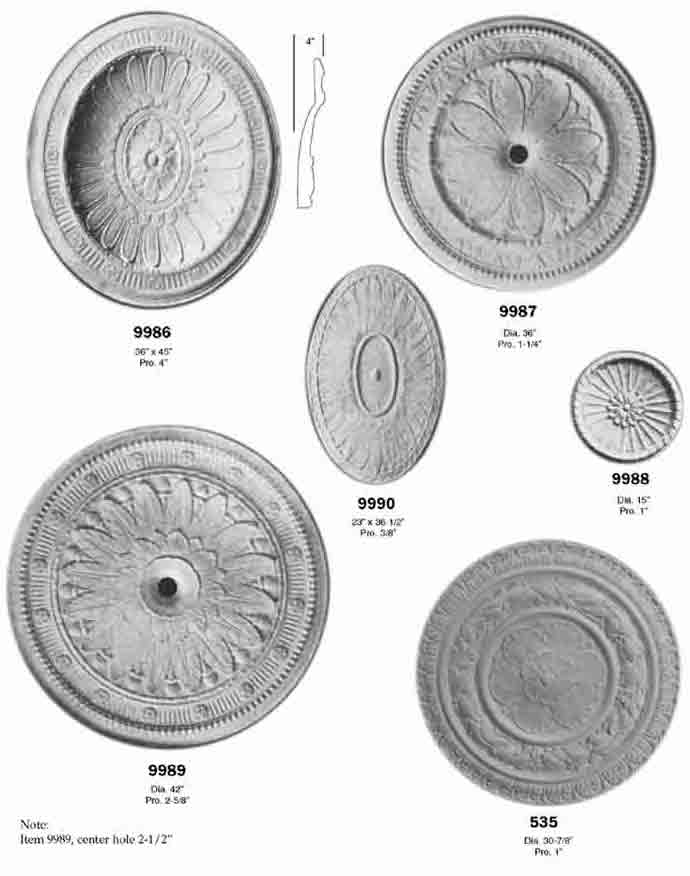 Plaster Ceiling Medallions and Centerpieces | Fischer & Jirouch Co ...